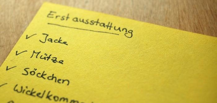 Was braucht man alles für ein baby liste
